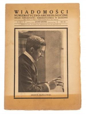 Wiadomości Numizmatyczno-Archeologiczne rok 1924, Kraków