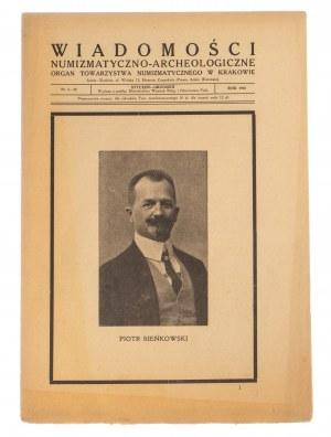 Wiadomości Numizmatyczno-Archeologiczne rok 1925, Kraków