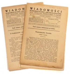 Wiadomości Numizmatyczno-Archeologiczne rok 1921, Kraków