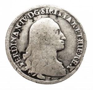 Włochy, Królestwo Neapolu, Ferdynand IV Burbon, I okres 1759-1799, Piastra - 120 grani 1786 P, Neapol