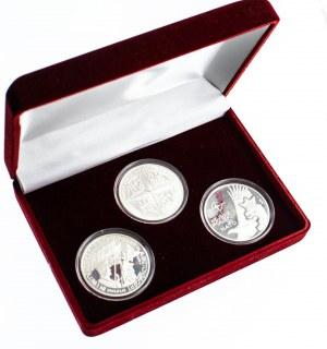 NATO: POLSKA CZECHY WĘGRY, zestaw trzech srebrnych medali.