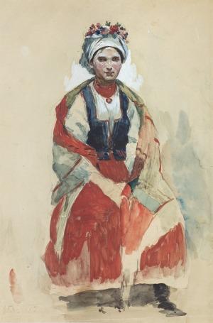 Tetmajer Włodzimierz, PORTRET ŻONY, 1890
