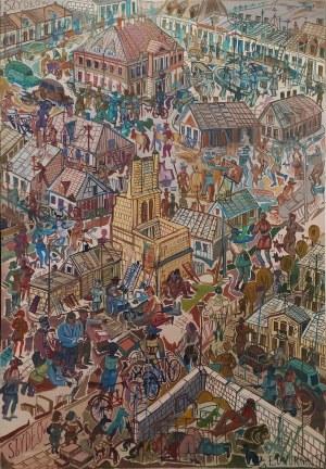 Edward Dwurnik, Szydłów, 1977