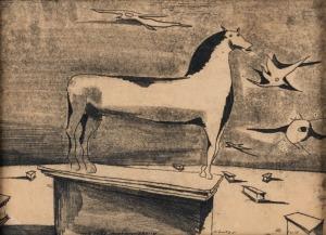 Tadeusz Kantor, KOŃ MÓJ NIEZWYCIĘŻONY, 1952