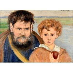 Wlastimil HOFMAN (1881-1970), Dziecko z jabłkiem