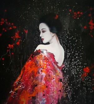 Patrycja Kruszyńska – Mikulska, z cyklu Kimono i wachlarz, Geisha III, 2020
