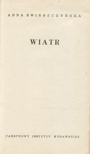 ŚWIRSZCZYŃSKA Anna - Wiatr [wydanie pierwsze]