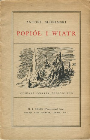 SŁONIMSKI Antoni - Popiół i wiatr [wydanie pierwsze 1942]