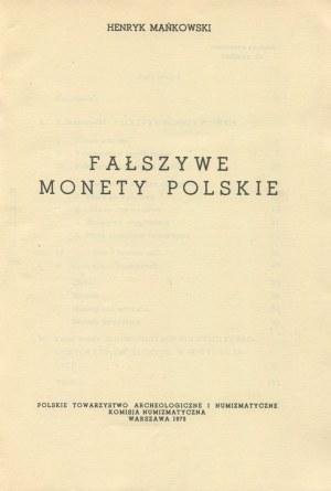 MAŃKOWSKI Henryk - Fałszywe monety polskie