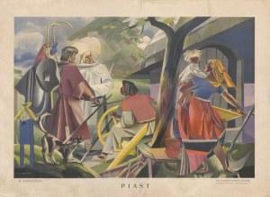 grafika STRYJEŃSKA Zofia - Piast (Aniołowie u Piasta) [1935]