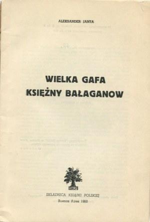 JANTA Aleksander - Wielka gafa księżny Bałaganow