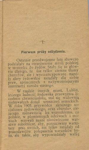 WŁADZIŃSKI Jan - Lublin w walce o swoją polskość między rokiem 1909-1913