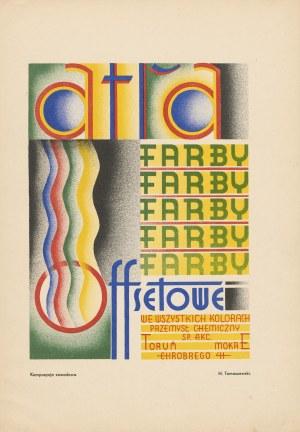 reklama TOMASZEWSKI Henryk - Atra. Farby offsetowe we wszystkich kolorach [1933]