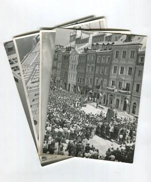 fotografia Warszawa - Zestaw 4 zdjęć z lat 50. [Bierut, Pałac pod Blachą, Marszałkowska]