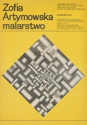 plakat Zofia Artymowska. Malarstwo. Kwiecień 1971