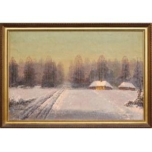 Wiktor Korecki (1897-1980), Pejzaż zimowy