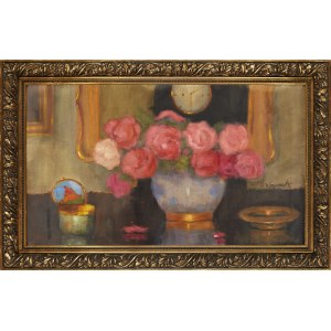 Alfons Karpiński (1875-1961), Róże w flakonie