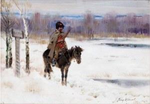 Jerzy Kossak Bolszewik na patrolu