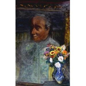 ANERI Irena Weissowa (1888-1981), Martwa natura z portretem W. Weissa i kwiatami, po 1950