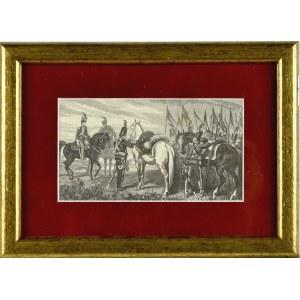 Juliusz KOSSAK (1824-1899), Przygotowania do wymarszu z obozu na pole bitwy w Boryszkowicach 1792 roku