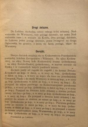 ILUSTROWANY PRZEWODNIK PO LUBLINIE 1901 r.
