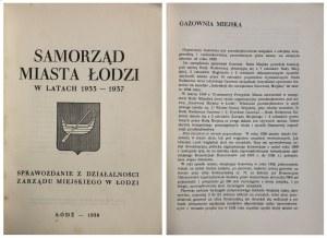 SAMORZĄD MIASTA ŁODZI W LATACH 1933-1937