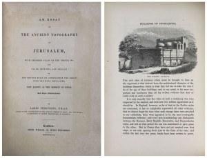 STAROŻYTNA TOPOGRAFIA JEROZOLIMY 1847 r.