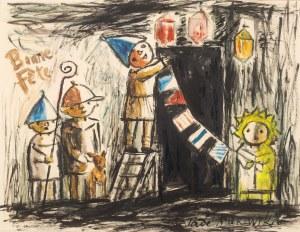 Tadeusz Makowski (1882 Oświęcim - 1932 Paryż), Bonne fête, ok. 1931