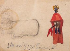 Jan Stanisławski (1860 Olszana/Ukraina - 1907 Kraków), Chorągiew, dzbanek (praca dwustronna)
