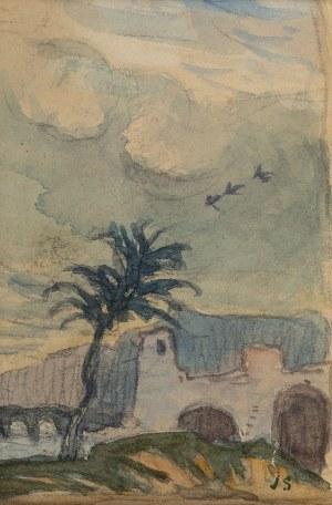 Jan Stanisławski (1860 Olszana/Ukraina - 1907 Kraków), Pejzaż (obraz dwustronny)