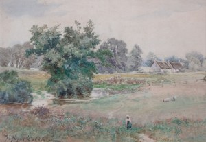 Józef Anatoliusz Kraczkowski (1854 - 1914), Pejzaż wiejski