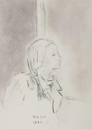 Bencion(Benn) Rabinowicz (1905 Białystok - 1989 Paryż), Profil kobiety, 1980 r.