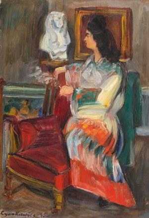 Zdzisław Cyankiewicz (1912 Białystok - 1981 Paryż), Portret kobiety, 1945 r.
