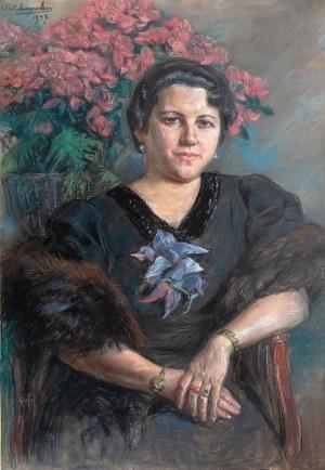 Wincenty Wodzinowski (1866 Igołomnia k. Miechowa - 1940 Kraków), Portret Heleny Mond, 1937 r.