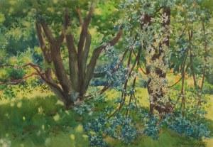 Józef Kasarab (ur. 1906), W ogrodzie, 1943 r.