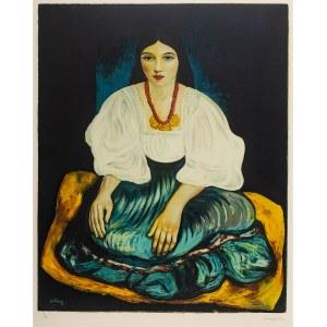 Mojżesz Kisling (1891 Kraków - 1953 Sanary-sur-Mer), Siedząca kobieta (Bretonka)