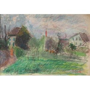 Zygmunt Schreter (1886 Łódź - 1977 Francja), Pejzaż letni