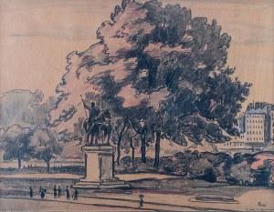 Jean Peské (1870 Gołta/Ukraina-1949 Le Mans), Pomnik Karola Wielkiego (przy Katedrze Notre Dame w Paryżu)