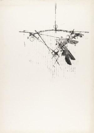 """Bednarczyk Andrzej (Ur. 1960), Bez tytułu (z cyku: """"Składnica niegdysiejszych aniołów"""" VII), 1990"""