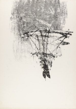 """Bednarczyk Andrzej (Ur. 1960), Bez tytułu (z cyklu: """"Składnica niegdysiejszych aniołów"""" bez numerów), 1990"""