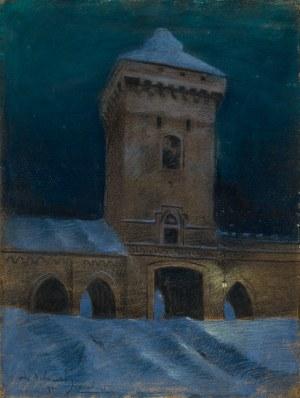 Dobrowolski Odo (1883-1917), Brama floriańska w nocy [nokturn krakowski]