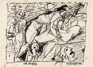 Podsadecki Kazimierz (1904-1970), Scena figuralna, 1963