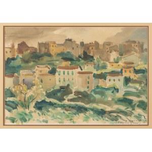Pronaszko Zbigniew (1885-1958), Widok Cagnes, lata 20. XX w.