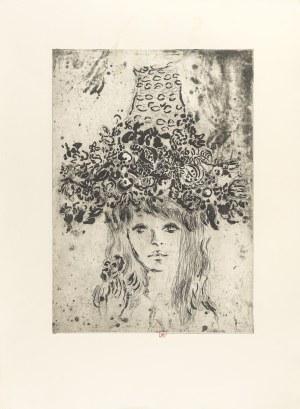 Maciejewski Zbysław (1946-1999), Portret Bardotki w kapeluszu