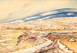 Julian FAŁAT (1853-1929), Pejzaż jesienny z Bystrej, 1918