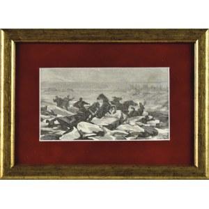 Juliusz KOSSAK (1824-1899), Katastrofa podczas przeprawy przez Niemen do Malinek – do narzeczonej Pana Mohorta