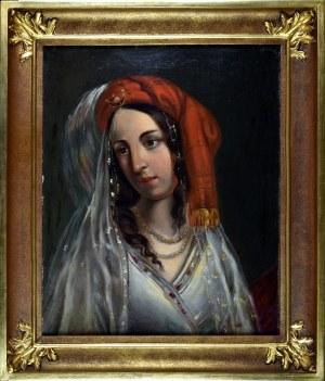 Korneli SZLEGEL (1819-1870), Głowa Turczynki