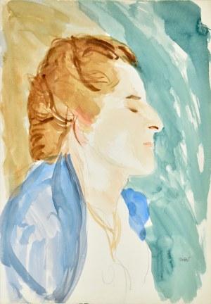Wojciech WEISS (1875-1950), Portret Haneczki – córki artysty, ok. 1940