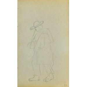 Jacek MALCZEWSKI (1854-1929), Chłop idący boso ukazany z lewego profilu