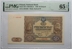 50 złotych 1946 - seria L - PMG 65 - EPQ